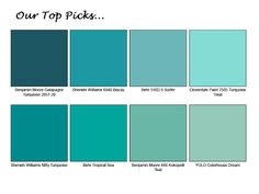 Top #Turquoise Paint Colors #homedecor Turquoise Rooms  I JUST WANT THIS IN MY ENTIRE HOUSE   Kids bathroom
