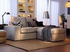 IKEA Kivik kanapé és lábtartó | Lakásfelújítás | Pinterest