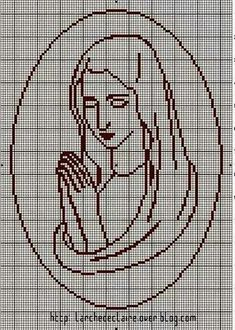 Gallery.ru / Фото #93 - Богородица (схемы) - Olgakam Just Cross Stitch, Cross Stitch Art, Cross Stitch Designs, Cross Stitching, Cross Stitch Patterns, Crochet Cross, Filet Crochet, Cross Stitch Pictures, Hand Embroidery Patterns