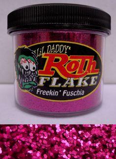 Roth metal flake Freekin Fuschia new 2oz jar hot rod custom paint lil daddy