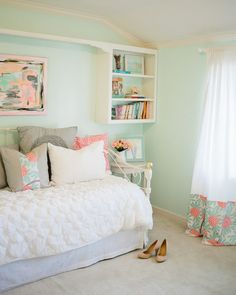 {Mint & Peachy Pink} Bedroom