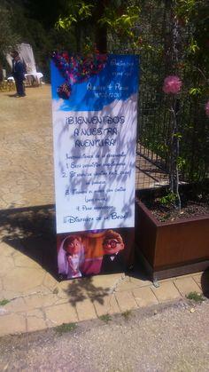 """Banner """"Bienvenidos a nuestra Aventura"""" Boda Alberto&Ronak, 14 de mayo 2016"""