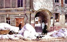 Лялин переулок. Подворотня   Живопись Алены Дергилевой.