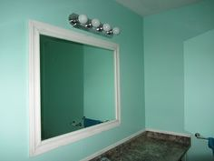 mint green, for the downstairs bathroom