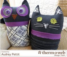Make spooky Halloween characters with Crossroads Denim fabric and Indygo Junction's Woody and Sam pattern. $9.99