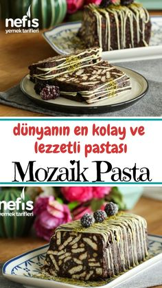How to make Mosaic Cake Recipe (with video)? Here is the illustrated description of Mosaic Cake Recipe (with vide East Dessert Recipes, Cake Recipes, Desserts, Turkish Recipes, Confectionery, Beautiful Cakes, Nutella, Sweet Recipes, Food And Drink