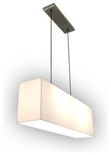 Gus Modern White Acrylic Hanging Lamp - modern - pendant lighting - by Design Public