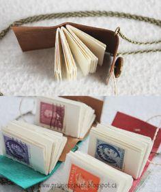 Prairie Peasant: miniature book necklaces