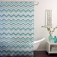 Ziggy Peva Shower Curtain In Teal
