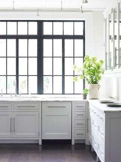 Steel Doors & Windows in a kitchen