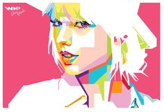 Taylor Alison Swift is an American singer-songwriter and actress. Raised in Wyomissing, Pennsylvania, Swift moved to Nashville, Tennessee, at the age of 14 to pursue a career in country music  #wpap #pop #art #illustration #vector #taylor #swift