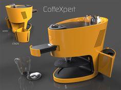 Research of original and contemporary design. Coffee Machine, Espresso Machine, Coffee Maker, Product Poster, Urban Furniture, Advertising Design, Organic Shapes, Caffeine, Product Design
