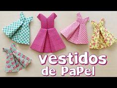 Vestidos de origami - YouTube
