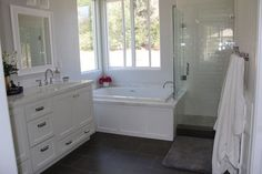 After two and a half, what felt like forever, months our master bathroom remodel is finished! (Although in retrospect, that's really not that long…but hot dang it felt endless while it …
