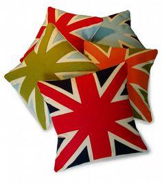 Union Jack Cushions: By Karen Hilton Designs