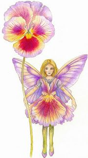 inkspired musings: The Language of Flowers - Pansy Fairy Photography, Decoupage, Good Day To You, Cicely Mary Barker, Fantasy Paintings, Fairy Paintings, Language Of Flowers, Ice Sculptures, Beautiful Fairies