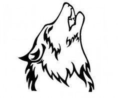 Howling wolf design wallpaper