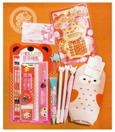 Papeterie kawaii: stylo, crayon et calculatrice mignonne + chausettes kawaii hibou~~Commande kawaii de chezfee.com - une boutique kawaii en ligne pas cher~~ ^O^