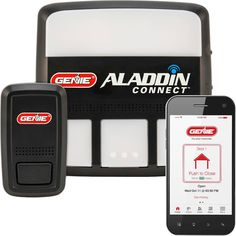 Aladdin Connect WiFi Garage Door Controller by Genie - Retrofit Add-on Unit for Existing Garage Door Opener / Fits Most Brands Old Garage, Garage Doors, Garage Door Hardware, Smart Garage Door Opener, Wifi Connect, Genie Aladdin, Cool Bluetooth Speakers, Works With Alexa, Home Automation