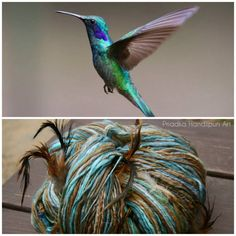 HUMMINGBIRD Handspun Art Yarn superfein merino wool silk 50/50 feathers beads
