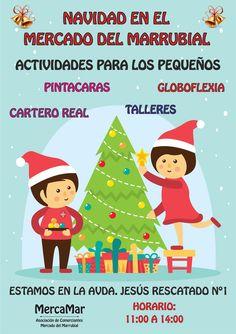Flyers promoción Asociación Mercamar Navidad 2015 frontal