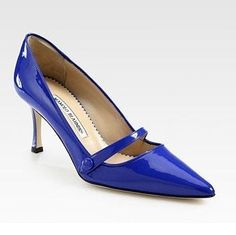 Diva-Dealz -  MANOLO BLAHNIK Shoes Mary Janes MLADARI Blue Patent 39 9 | , $479.99 (http://www.diva-dealz.com/manolo-blahnik-shoes-mary-janes-mladari-blue-patent-39-9/)