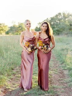 Satin Bridesmaid Dresses, Bridal Party Dresses, Satin Dresses, Wedding Dresses, Mix Match Bridesmaids, Wedding Bridesmaids, Bridesmaid Poses, Amanda, Outfits