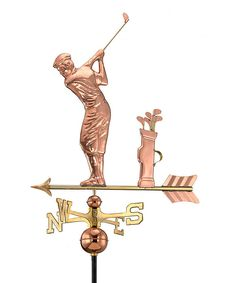Take a look at this Good Directions Golfer Polished Copper Weather Vane on zulily today!