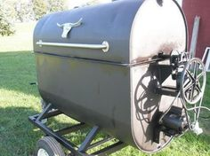 Making a grill from Fuel Oil tank - Page 2 Bbq Smoker Trailer, Barbecue Smoker, Grilling, Bbq Grill, Barbacoa, Rotisserie Smoker, Custom Bbq Smokers, Smoker Cooker, Build A Smoker