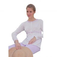 Raffinato pigiama maglia/pantalone in cotone 100% .    Creazione e Produzione interamente Made in Italy Autentico.