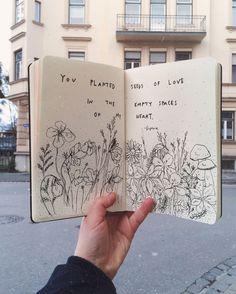 art journal in the wild