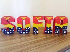 Hero name deco Wonder Woman Birthday, Wonder Woman Party, Birthday Woman, 40th Birthday Parties, 4th Birthday, Birthday Wishes, Anniversaire Wonder Woman, Girl Superhero Party, Superman Party