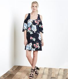 loving this dark floral printed cold shoulder dress. Perfect for spring and summer 2017 FREE SHIPPING www.specialteesboutique.com