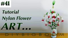 Nylon stocking flowers tutorial 41#, How to make nylon stocking flower s...