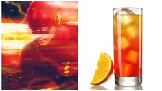 10 CW-Themed Cocktails To Have During Fall Premieres: The Fastest Man Alive — The Flash Fun Drinks, Yummy Drinks, Alcoholic Drinks, Beverages, Drinks Alcohol Recipes, Cocktail Recipes, Cocktails, Red Bull Drinks, Drink