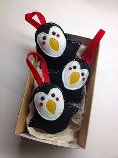 Penguin Christmas Decorations by TheBigForest