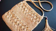 Tissue Making mit Papierband - Nazlı Top - - Tissue Making mit Papierband - Nazlı Top Crochet Cross, Free Crochet, Knit Crochet, Crochet Hats, Crochet Clutch, Crochet Purses, Crochet Bikini, Hand Knitting, Knitting Patterns