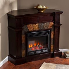 Amazon.com: Cartwright Convertible Electric Fireplace - Classic Espresso: Kitchen & Dining