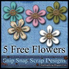 """Snip Snap Time to Scrap: 5 Free Digi Scrapbook Flowers ✿ Join 7,400 others. Follow the Free Digital Scrapbook board for daily freebies. Visit GrannyEnchanted.Com for thousands of digital scrapbook freebies. ✿ """"Free Digital Scrapbook Board"""" URL: https://www.pinterest.com/sherylcsjohnson/free-digital-scrapbook/