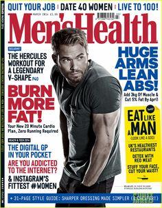 Kellan Lutz Covers 'Men's Health UK' March 2014 | Kellan Lutz, Magazine Photos | Just Jared