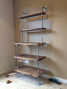 galvanized steel piping fireplace mantel - Google Search