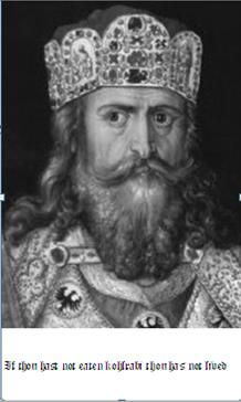 Talk about a sweet beard! And he's my 39th Great Grandpa! Charlemagne, Emperor of the Holy Roman Empire.