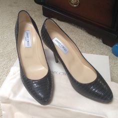 Jimmy Choo shoes Jimmy Choo (Gilbert) shoes, embossed leather shoe made in Italy Jimmy Choo Shoes