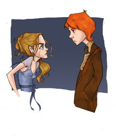 """""""You know the solution then…ask me before someone else does, and not as a last resort!!!"""" Hermione and Ron at the Yule Ball."""