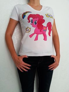 A personal favorite from my Etsy shop https://www.etsy.com/listing/245948512/my-little-pony-pinkie-pie-design-tshirt