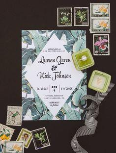tropical invitation