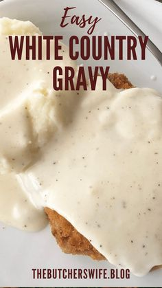 Notes Homemade Gravy Recipe, Homemade Sausage Gravy, Homemade Sauce, Best Biscuits And Gravy, Creamy Dill Sauce, Breaded Pork Chops, Fast Easy Meals, How To Cook Sausage, Hot Fudge