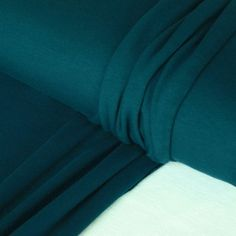 Petrol Cotton & Lycra Jersey Fabric