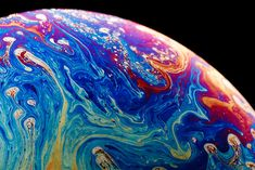 Soap Bubble Magnified.