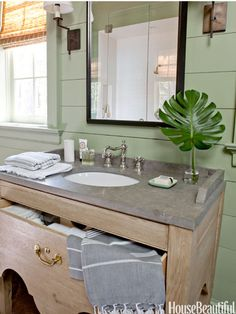An oval-shaped sink gives you more counter space than a square.